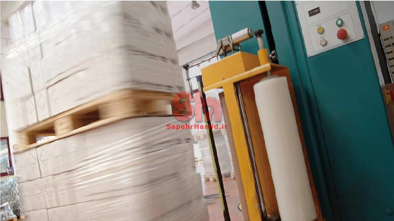 استرچ پالت کارخانه ماشین سازی سپهرحمید